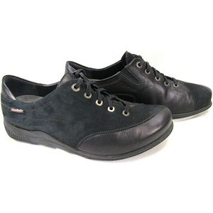 MEPHISTO Mobils Black Leather Nubuck Sneakers 8.5